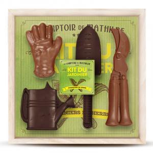 Boite à 4 outils de jardin 3 chocolats - Le comptoir de Mathilde