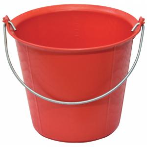 Seau pro renforcé à ergots - Taliaplast - 13 L - Rouge