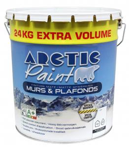 Peinture de finition acrylique - Arctic - Pot de 24 Kg - Blanc mat