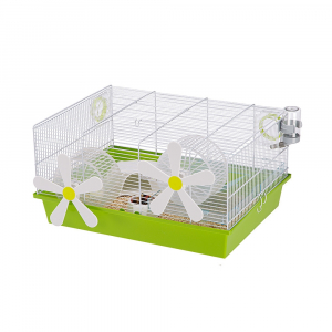 Cage Milos Medium Flowers - Ferplast - 50 x 35 x h 25 cm