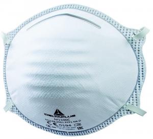 Masque poussière ffp1 à coque - Delta Plus - Boite de 20