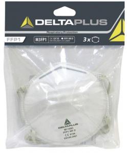 Masque poussière ffp1 à coque - Delta Plus - Lot de 3