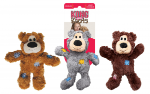 Peluche sonore pour chien Kong ours - Medium