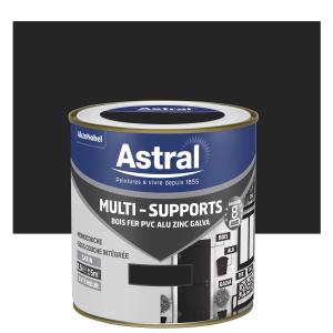 Peinture Multi supports - Astral - Extérieur - Satin - Noir - 0.5 L