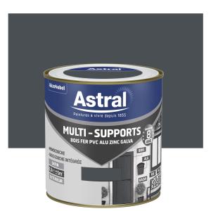 Peinture Multi supports - Astral - Extérieur - Satin - Gris sombre - 0.5 L