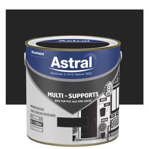 Peinture Multi supports - Astral - Extérieur - Satin - Noir - 2 L