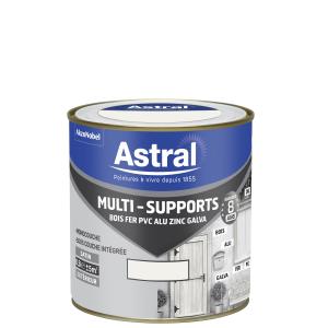 Peinture Multi supports - Astral - Extérieur - Satin - Blanc - 0.5 L