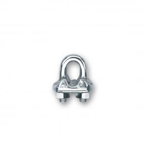 Serre-câble étrier - Acier zingué - Pour câble Ø 6 mm - Lot de 12