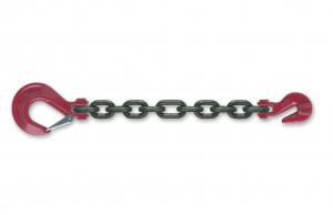 Chaîne d'arrimage avec crochet de raccourcissement à chape avec linguet + 1 crochet - Ø 10 mm - Longueur 3,5 m