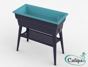 Jardinière Calipso MAXI 40L gris/turquoise