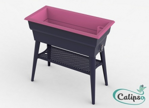Jardinière Calipso MAXI 40L grisframboise