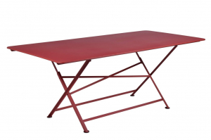 Table rectangle pliante Cargo - Fermob - 190 x 90 cm - Piment