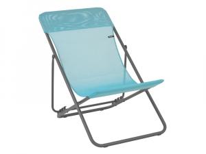 Chaise longue Maxi Transat Batyline Iso - Lafuma Mobilier - Bleu Lac
