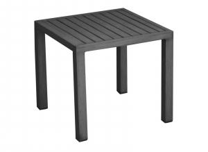 Table basse empilable carrée Lou - Alizé - 40 x 40 cm - Gris / Gris