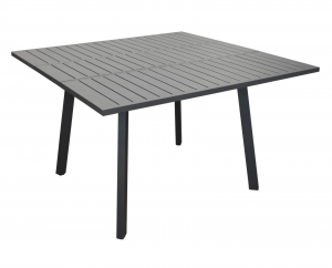 Table Barcelona à allonge centrale papillon - Proloisirs - 105/145 x 145 cm