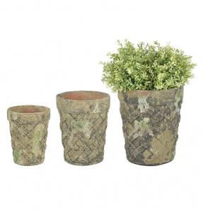 Pot à fleurs déco mousse - Esschert Design - Set de 3 pots