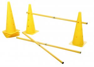 Agility - Lot de cônes et de barres d'obstacles pour chien