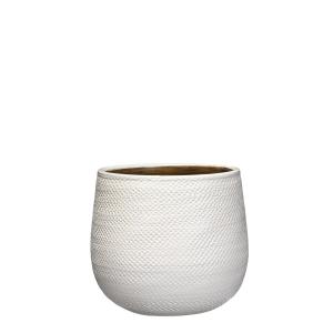 Pot rond Gabriel - Blanc - Ø21cm
