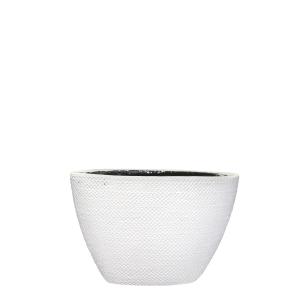 Pot ovale Gabriel - Blanc - 21cm