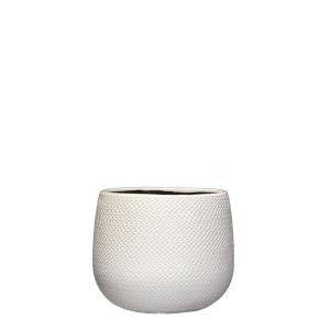 Pot rond Gabriel - Blanc - Ø18cm