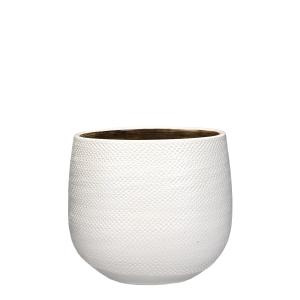 Pot rond Gabriel - Blanc - Ø25cm