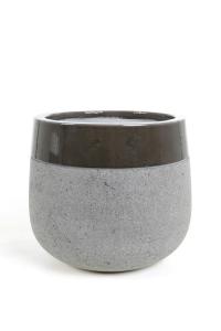 Pot rond à rebord gris - D55 cm