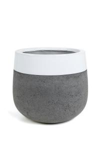 Pot rond à rebord blanc - D55 cm