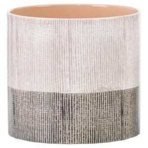 Cache-pot 828 - Deroma - Brown canvas - Ø 12 cm
