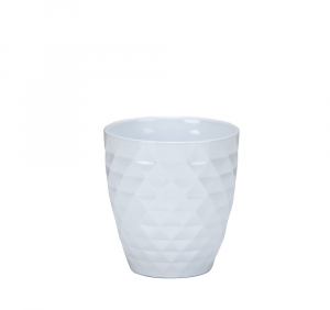 Vase blanc à motifs Alaska - 12 cm