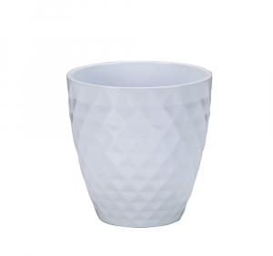 Vase blanc à motifs Alaska - 15 cm