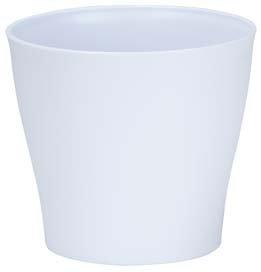 Cache-pot blanc - 19 cm