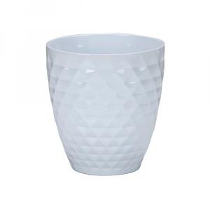 Vase blanc à motifs Alaska - 17 cm