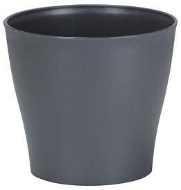 Cache-pot gris - 19 cm