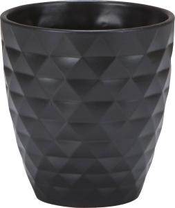 Vase gris à motifs - 12 cm