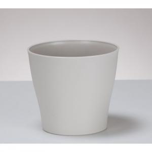 Cache-pot crème - 13 cm