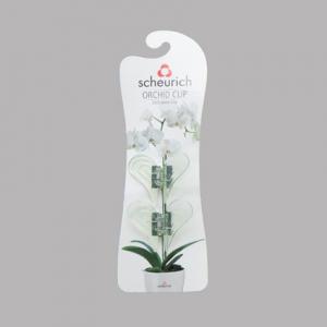 Clips pour orchidées - Scheurich - vert transparent - x2