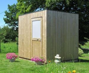 Abri de jardin Cube - Toit plat - 2m45 x 2m01