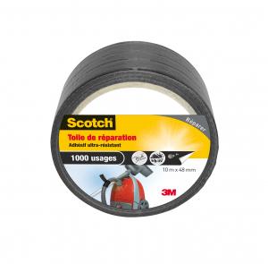 Toile de réparation Scotch - 3M - Noir - 10 m x 48 mm