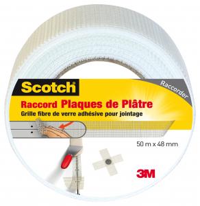 Raccord plaque de plâtre - 3M - Blanc - 50 m x 48 mm