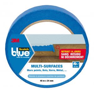 Masquage multi-surfaces Scotchblue - 3M - Bleu - 40 m x 24 mm
