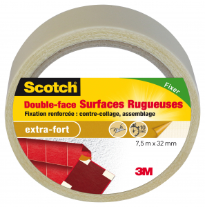 Double face surfaces rugueuses - 3M - 7,5 m x 32 mm