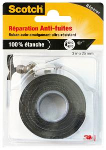 Anti-fuites auto-amalgamant - 3M - Noir - 3 m x 25 mm