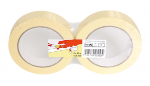 Lot de 2 Masquages Lisses - 3M - Beige - 2 x 50 m x 25 mm