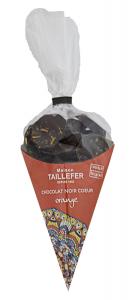 Cornet chocolat noir coeur orange - Maison Taillefer 150 gr