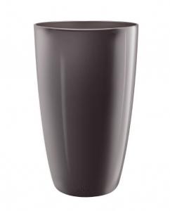 Pot Haut Brussels Diamond Rond - Elho - 32 cm - Gris Perle