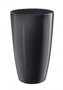 Pot Haut Brussels Diamond Rond - Elho - 32 cm - Noir Métal