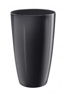 Pot Haut Brussels Diamond Rond - Elho - 22 cm - Noir Métal