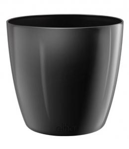 Pot Brussels Diamond Rond - Elho - 30 cm - Noir Métal