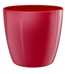 Pot Brussels Diamond Rond - Elho - 30 cm - Rouge charmant