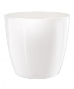 Pot Brussels Diamond Rond - Elho - 30 cm - Blanc
